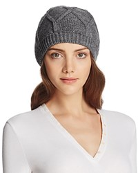 Bettina Slouchy Knit Beanie Gray