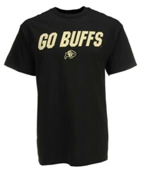 Vf Licensed Sports Group Men's Short Sleeve Colorado Buffaloes Slogan T Shirt Black