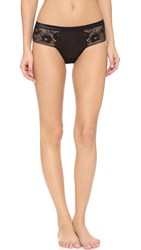 Hanky Panky High Shine Cheeky Hipster Panties Black