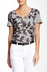 Andrea Jovine Floral Tee Gray