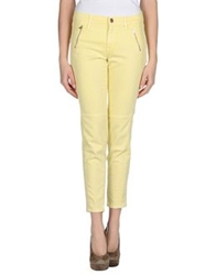 French Connection Denim Pants Light Yellow