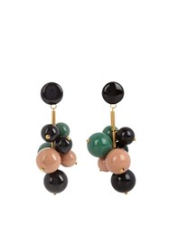 Marni Ball Drop Clip On Earrings Green Multi
