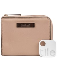 Kenneth Cole Reaction Top Zip Coin Purse With Tracker Pale