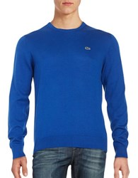Lacoste Cotton Crewneck Sweater Steam Blue