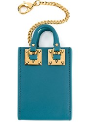 Sophie Hulme 'Albion' Tote Keychain Blue