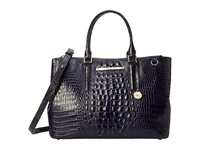 Brahmin Lincoln Satchel Ink Satchel Handbags Navy