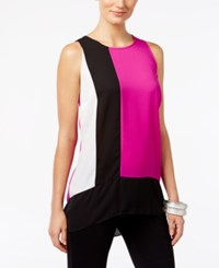 Inc International Concepts High Low Colorblocked Shell Only At Macy's