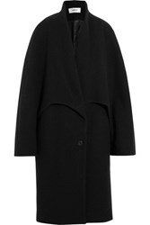 Chalayan Oversized Wool Blend Felt Coat Black