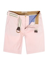 Howick Flat Front Shorts Light Pink