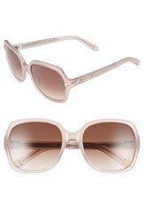 Bobbi Brown Women's 'The Harper' 55Mm Square Sunglasses Pink