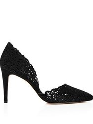 Reiss Dayton Laser Cut Court Shoe Black