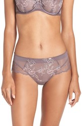 Chantelle Plus Size Women's Intimates 'Eclatante' Hipster Briefs Taupe