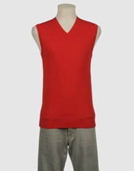 Yoon Sweater Vests Brick Red
