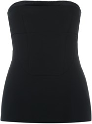 Antonio Berardi Strapless Top Black