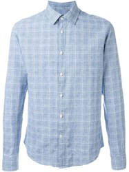 Woolrich Plaid Button Down Shirt Blue