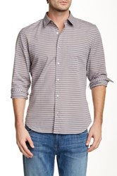 7 For All Mankind Striped Long Sleeve Shirt Blue
