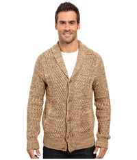 Nautica 3 Gauge Spine Cable Cardigan Oyster Brown Men's Sweater