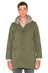 Nsf Nosef Faux Shearling Jacket Army