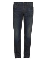 Gucci Mid Rise Straight Leg Jeans Blue