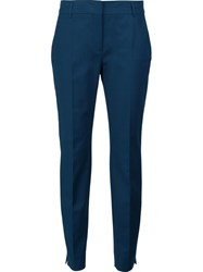 Dorothee Schumacher Slim Fit Tailored Trousers Blue