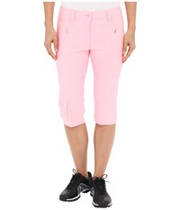 Jamie Sadock Fly Front 24 Knee Capris Doll Face Pink Women's Capri Blue