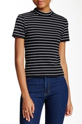 American Apparel Mock Neck Ponte Tee Multi