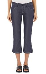 Tricot Comme Des Garcons Women's Lightweight Twill Crop Jeans Blue Siz