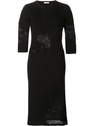Nina Ricci Knit Fitted Dress Black