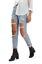Topshop Women's Destroyed High Rise Ankle Jeans
