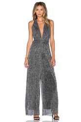 Endless Rose Farrah Jumpsuit Metallic Silver