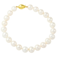 A B Davis 9Ct Freshwater Cultured Pearl Bracelet White