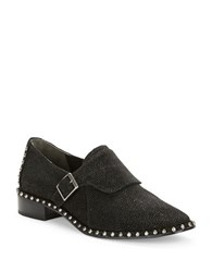 Adrianna Papell Pierce Suede Loafers Black