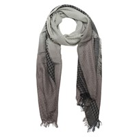 French Connection Isa Dogtooth Scarf Free Way Grey Opal Grey
