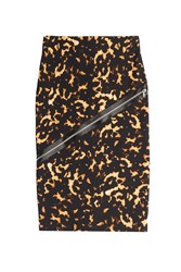 Mcq By Alexander Mcqueen Mcq Alexander Mcqueen Stretch Cotton Pencil Skirt With Zip Detail Animal Prints