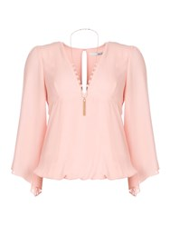 Relish Wide Sleeved Blouse Pink