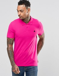 Asos Muscle Pique Polo Shirt In Pink Hot Pink