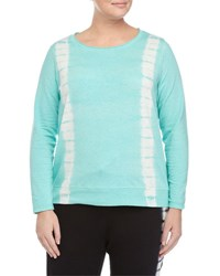 Andrew Marc New York Pullover Tie Dye Top Lagoon