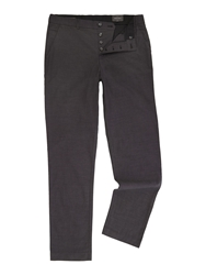 Peter Werth Renshaw Pindot Slim Fit Tailored Trousers Charcoal