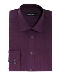 Double Two Long Sleeved Shirt Aubergine