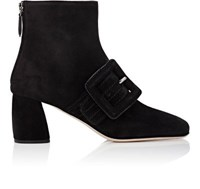 Miu Miu Women's Square Toe Ankle Boots Black