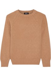 A.P.C. Atelier De Production Et De Creation Edimbourg Wool Sweater Camel