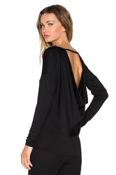 Trina Turk Palmero Long Sleeve Top Black