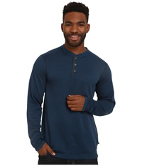 Exofficio Isoclime Thermal Henley Navy Galaxy Men's Long Sleeve Pullover Blue