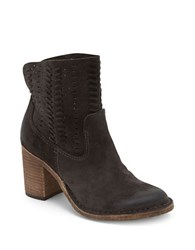 Dolce Vita Landon Perforated Suede Ankle Boots Anthracite