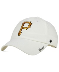 '47 Brand Women's Pittsburgh Pirates Adjustable Clean Up Cap White
