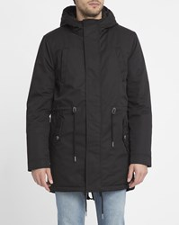 Minimum Black Wexford Padded Zipped Hooded Parka