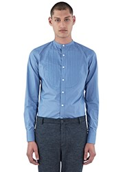 Kolor Pintuck Pleated Shirt Blue