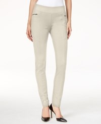 Inc International Concepts Pull On Skinny Pants Only At Macy's Toad Beige