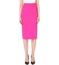 Roland Mouret Arreton Wool Crepe Pencil Skirt Hot Pink