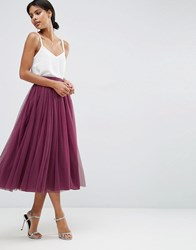 Asos Wedding Tulle Prom Skirt With Multi Layers Plum Purple